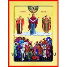 Покров над казачеством икона Божией Матери