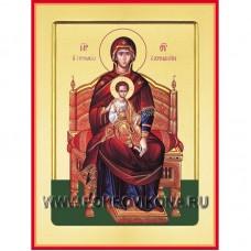Богородица на троне икона Божией Матери