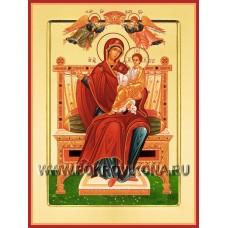 Богоматерь на троне икона Божией Матери