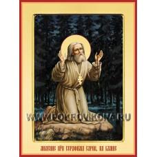 Преподобный Серафим Саровский, моление на камне