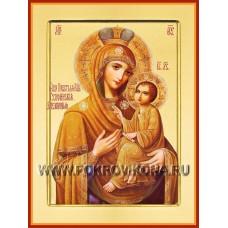 Тихвинская Слезоточивая икона Божией Матери (золотой фон)