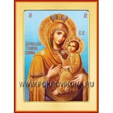 Тихвинская Слезоточивая икона Божией Матери (небесный фон)